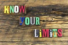 Conheça sua segurança da segurança do cuidado dos limites imagens de stock royalty free