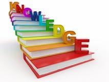 Conhecimento da palavra em livros como a escadaria Fotografia de Stock