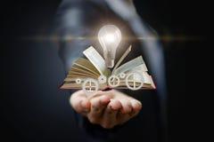 Conhecimento disponivel das ideias e do mecanismo foto de stock royalty free