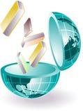Conhecimento do glob Foto de Stock