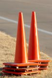 Coni arancioni di traffico fotografia stock