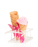 Coni di gelato Fotografie Stock
