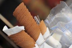 Coni di gelato Fotografie Stock Libere da Diritti