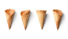 Coni di gelato vuoti Immagini Stock Libere da Diritti