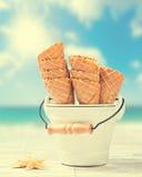 Coni di gelato vuoti Immagine Stock Libera da Diritti