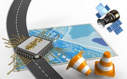 coni di riparazione 3d illustrazione vettoriale