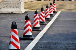 Coni di traffico Immagini Stock Libere da Diritti