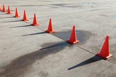 Coni di traffico Fotografie Stock