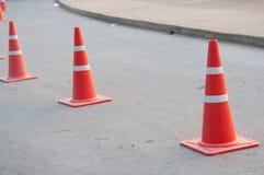 Coni di traffico Fotografie Stock Libere da Diritti