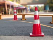 Coni di traffico Immagine Stock Libera da Diritti