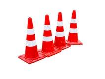 Coni di traffico isolati su bianco Immagine Stock Libera da Diritti