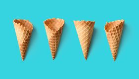 Coni gelati Fotografia Stock Libera da Diritti