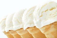 Coni gelati bianchi Fotografia Stock