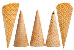Coni gelati messi Immagini Stock