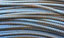 Coni retinici o barre d'acciaio usati per rinforzare calcestruzzo Fotografie Stock Libere da Diritti
