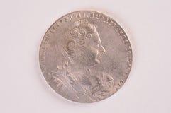 Coni un imperatrice della rublo e autocrate d'annata d'argento di tutta la Russia Anna Fotografia Stock