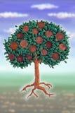 Conia l'albero Fotografia Stock Libera da Diritti
