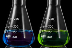 Conical Flask pair Stock Photography