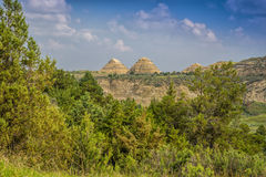 Conical mounds in the North Dakota Badlands Royalty Free Stock Photos