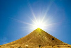 Conical mountain Royalty Free Stock Photography