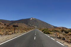 The conical volcano Mount Teide or El Teide Royalty Free Stock Photos