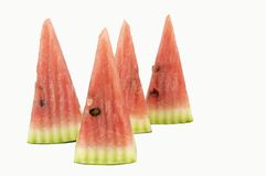 Conical watermelon slices isolated Stock Photography