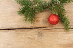 Conifer and bauble Stock Photo