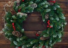 Conifer wreath Stock Image