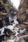 Водопад в России стоковая фотография rf