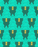 Coniferous forest pattern. Christmas tree ornament. Fir-tree bac. Kground Royalty Free Stock Image