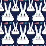 Conigli con le carote Reticolo senza giunte di vettore Priorità bassa animale royalty illustrazione gratis
