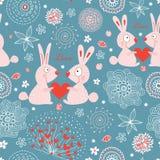 Conigli di amore di struttura illustrazione vettoriale