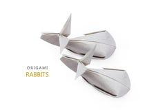 Conigli di carta di origami Fotografia Stock Libera da Diritti