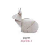 Conigli di carta di origami Immagini Stock Libere da Diritti