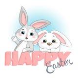 Conigli di Pasqua Fotografia Stock