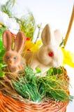 Conigli di Pasqua verticali Fotografia Stock Libera da Diritti