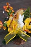 Conigli nel canestro Fotografia Stock Libera da Diritti