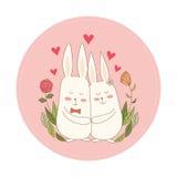 Conigli nell'amore Fotografia Stock