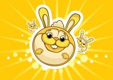 Conigli solari Fotografia Stock