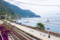 Coniglia train railway station Stock Images