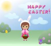 Coniglietta di Pasqua Immagini Stock Libere da Diritti