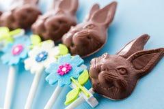 Coniglietti del cioccolato fotografia stock libera da diritti