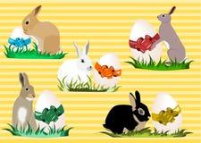 Coniglietti di pasqua illustrazione vettoriale