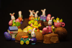 Coniglietti di pasqua Fotografie Stock