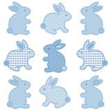 Coniglietti di pasqua del bambino Fotografia Stock