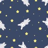 Coniglietto-astronauta nello spazio aperto Immagine Stock