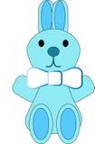 Coniglietto blu Fotografia Stock