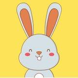 Coniglietto blu sveglio sorridente Immagini Stock Libere da Diritti