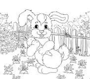Coniglietto con un carot Fotografie Stock Libere da Diritti