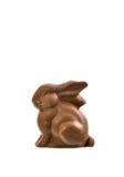 Coniglietto del cioccolato isolato su priorità bassa bianca Fotografia Stock Libera da Diritti